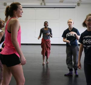 Jasmine Powell  Choreographing and teaching at Hollins University